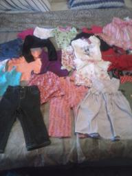 various little girl clothes sizes 18 months to 3T large bag full