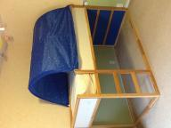 Twin size child's loft bed