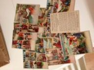 Antique Sunday School lesson cards with pictures