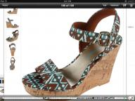 Turquoise and Brown Wedges