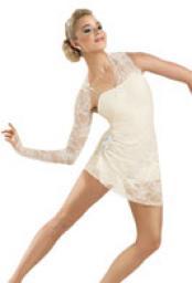 White Lyrical Dance Costume