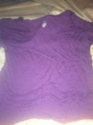 Dark Purple Scoop Neck Top