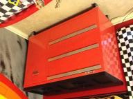 Metal tool box dresser