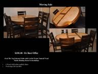 Oval Tile Top Pedestal Dinning Set