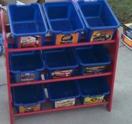 Cars toy box shelves