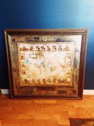 Large 4ft by 4ft Custom framed wall art