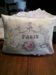 Pretty Pink Paris Shabby Style 9x7