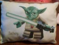 Personalized Yoda Star wars pillow