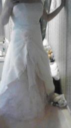 David Bridal Strapless Wedding Dress and Slip Size 12