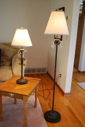 Matching floor and table lamps