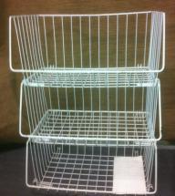 Wire stacking storage baskets