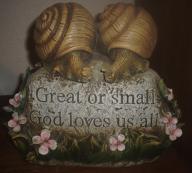 Snail landscape, garden decor
