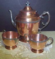 Copper Four Piece Tea Set