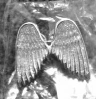 Silver Glitter Angel Wing Pin