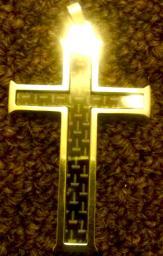 Woven Cross pendant
