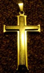 Lord's Prayer Cross in Spanish pendant
