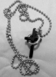 Black Purity Cross Necklace