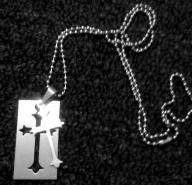 2 Piece dog tag cross necklace