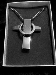 Steel Purity Cross Necklace
