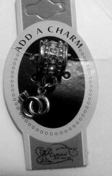 Pandora style wedding rings charm