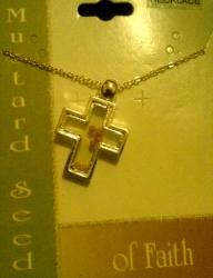 Mustard Seed Cross Necklace