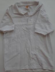 A+ White Short Sleeve Polo