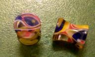 2g Clear w/ multi colors acrylic earring plugs