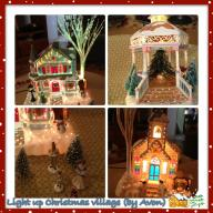 Lighted Christmas Village Pieces