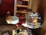Santa candle holder