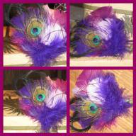 Peacock Feather Groom Boutonniere - NEW