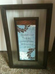 Decorative frame with quote