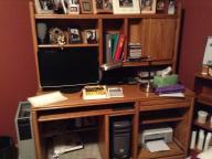 Computer desk--oak