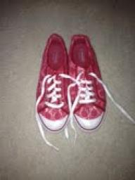 Red Coach tennis shoes