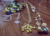 3 necklaces and 1 wrap bracelet