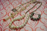 3 necklaces and 1 bracelet