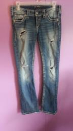 Silver Buckle Jeans ~ Great Condition!