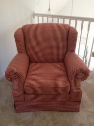 Country Plaid Oversized Chair