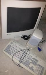 Monitor, Keyboard, Speakers