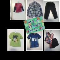 4t & 5t Boy clothes