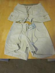 Two Pairs of Khaki Shorts - Size 3/4 and size 1