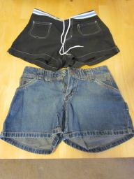 Two Pairs of Shorts - Small (5/7) and Size 1