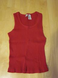 No Boundaries Red Tank Top - Juniors Medium (7/9)