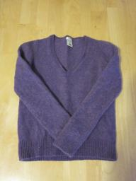 Old Navy Purple V-Neck Sweater - Medium
