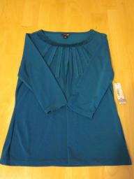 East 5th Petite Turquoise Top - Size PM