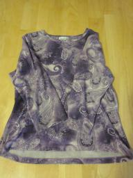 Coldwater Creek Purple Print Top - Medium