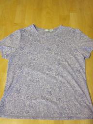 Coldwater Creek Lavender Print Top - Medium