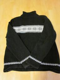 Style & Co Petite Black Turtleneck Sweater - Medium