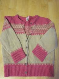 Old Navy Tan & Pink Sweater - Medium