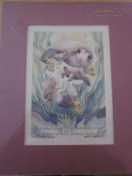 Jody Bergsma Art (unframed, purple mat)