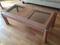 Beautiful Wood/Glass Coffee Table